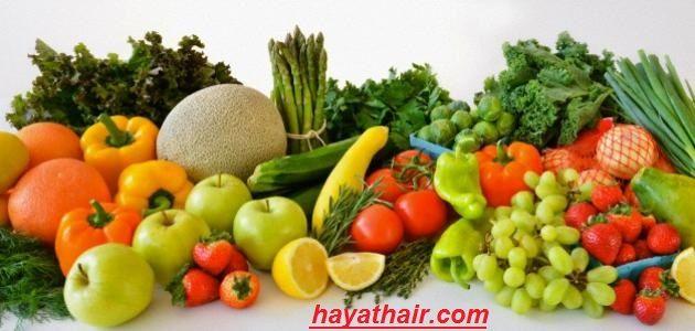 علاج تساقط الشعر بالأغذية